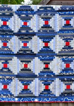 Great tutorial for this interesting variation of the Courthouse ... : courthouse steps quilt block - Adamdwight.com