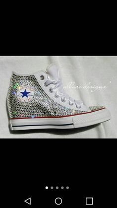 High top Converse with rhinestones Chuck Taylors by AllureDesignz bd6f804fb