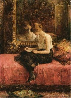Alexei Alexeivich Harlamoff Literary Pursuits of a Young Lady oil painting for sale; Select your favorite Alexei Alexeivich Harlamoff Literary Pursuits of a Young Lady painting on canvas or frame at discount price. Reading Art, Woman Reading, Reading Books, Reading Time, Affinity Photo, Amaterasu, Russian Art, Russian Painting, Renoir