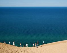 Sleeping Bear Dunes, Michigan. I have PTSD-style flashbacks of cross country camp, but they have a special place in my heart nonetheless.