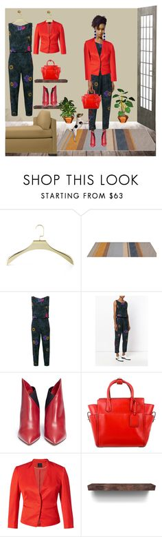 """""""Jumpsuit / lf2"""" by leaff88 ❤ liked on Polyvore featuring Mike + Ally, Diesel, Valentino, Reed Krakoff, Williams-Sonoma and Allied Brass"""