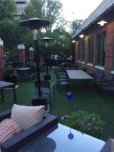 Enjoy this beautiful evening on our patio at #CharactersFood! #YegFoodie We're open until 10pm