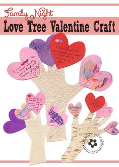 Love Tree Valentine Crafts.  Perfect for Family Night!  {OneCreativeMommy.com} #valentinecrafts
