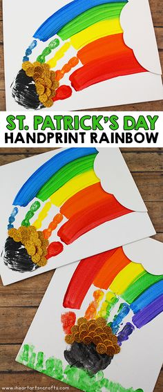 St patricks day crafts for kids - Rainbow crafts - Preschool crafts - St patr. - St patricks day crafts for kids – Rainbow crafts – Preschool crafts – St patrick's day c - Rainbow Crafts Preschool, Kindergarten Crafts, Daycare Crafts, Toddler Crafts, Preschool Bulletin, Infant Crafts, Toddler Art, Crafts For Seniors, Crafts For Teens