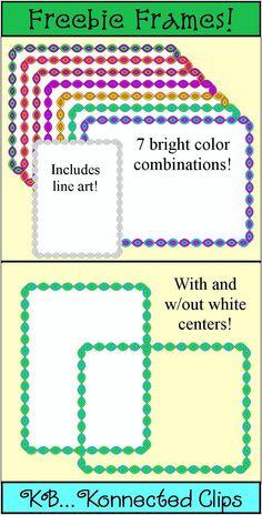 Frames! 7 fun freebies - also includes line art. Enjoy!!!