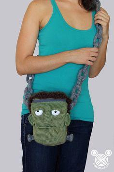 PATTERN: Frankenstein Crochet  Bag Frankenpurse  PDF Pattern Instant Download