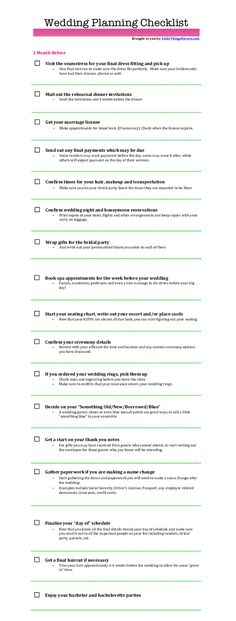 Free Printable #Wedding #Planning Checklist For 3 Months Before