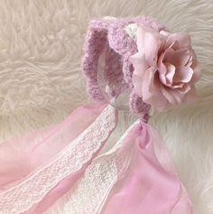 Newborn Hat Newborn Bonnet Lilac Lace Photo Prop READY by kirinati, $28.00