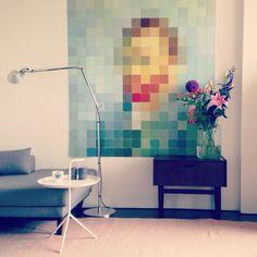 Ixxi van Gogh, Tolomeo lamp (Artemide) in an Amsterdam apartment living room