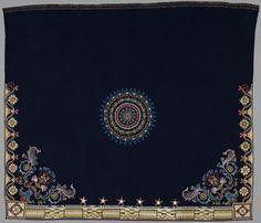 Anishinabe/Dakota Dance blanket, 1840-50 Wool, silk, beads Minneapolis Institute of Art