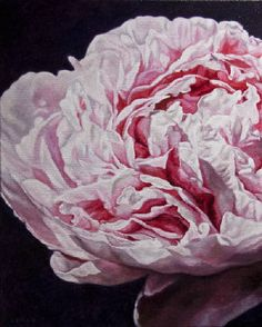 "Robert Lemay PEONY III / Canada House Gallery - oil, canvas 30"" x 24"""