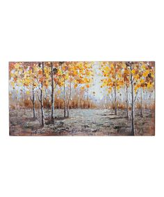 Look what I found on #zulily! Trees in the Forest Oil Wrapped Canvas by Giftcraft #zulilyfinds