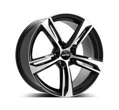 Paky Black Diamond Alloy wheel / Cerchio in lega leggera Paky Nero Diamantato Side
