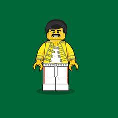 Freddy Mercury #Lego #Illustration