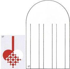 Danish woven heart
