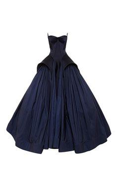 Royal Blue Tafetta Gown by Zac Posen for Preorder on Moda Operandi Navy Prom Dresses, Blue Evening Dresses, Pretty Dresses, Evening Gowns, Beautiful Dresses, Formal Dresses, Dress Prom, Navy Gown, Dresses 2014