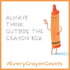 So cute! Support the Crayons Union by creating your own #EveryCrayonCounts social image to share.  Try it out!