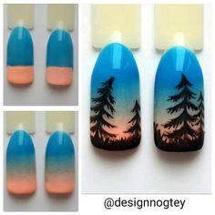 #nailarttutorial #pinetree