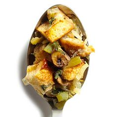39 flavorful dishes with mushrooms | Mushroom and Leek Stuffing | Sunset.com #SunsetTurkeyDay