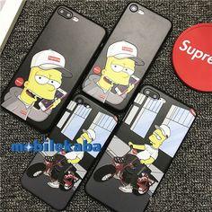 シュプリームsupremeのiPhoneX、iPhone8、iPhone7ケース。人気キャラクターのシンプソンズで若者に大変人気!個性十分の設計でカッコイイ!