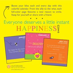 Free Shipping $30 Instant Happy Notes 2017 Desk Calendar