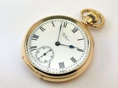 c1924, FULLY WORKING WALTHAM BARTLETT OPEN FACE POCKET WATCH, 10K GOLD /F CASE