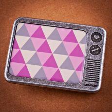 Opasková spona - 3 cm -  Triangles pink