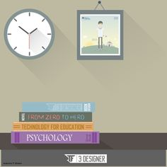 read a book schedule flat design environment and long shadow