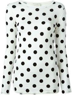 polka dot long sleeve T-shirt