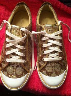 coach sneakers Coach Sneakers, Coach Shoes, Cute Shoes, Me Too Shoes, Coach Poppy, Canvas Sneakers, Coach Handbags, Love Fashion, Vans