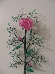 Risultati immagini per alberelli e fiori di perline