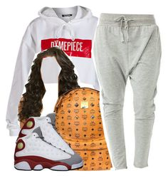 """."" by trillest-queen ❤ liked on Polyvore featuring Dimepiece and MCM"