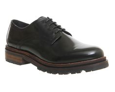 Buy Black Hi Shine Leather H by Hudson Hollin Brogues from OFFICE.co.uk.