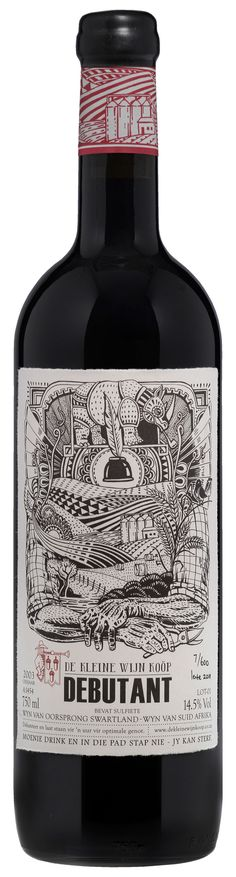 This is all about the Illustration... The label was designed by Fanakalo for De Kleine Wijn Koöp.