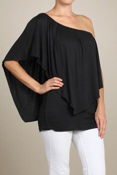 The goes with anything Convertible Top ~ strapless, 1 shoulder or on both shoulders $29