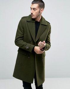Men's Black Wool And Cashmere-Blend Peak-Lapel Epsom Coat | Mens ...