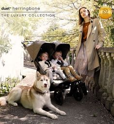 duet luxury is a refined, all-terrain side-by-side double buggy with bespoke tailoring, elegant leather detailing and luxury bundle Double Strollers, Baby Strollers, Mountain Buggy Duet, Double Buggy, Bespoke Tailoring, Herringbone, Little Ones, This Is Us, Diaper Bag