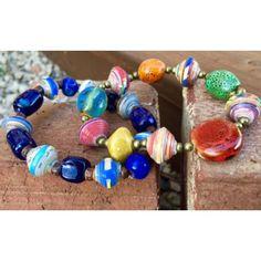 Signature Bracelet by Papillon Enterprise from Haiti- I love layering mine!