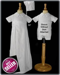 b06ea8c4d 2in1 Baby Boys Convertible Christening Set from Gown to Romper Baptism  Outfit, Baptism Gown Boy