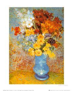 Vase of Flowers, c.1887 Art Print