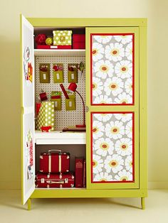 Love this crafting cabinet.