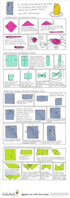 4 Super Easy Napkin-Folding Techniques | #DIY and #Crafts | The Secret Yumiverse