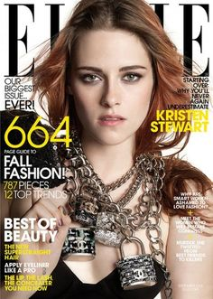 Kristen Stewart, Elle, September 2014 (huh, Chanel padlocks)