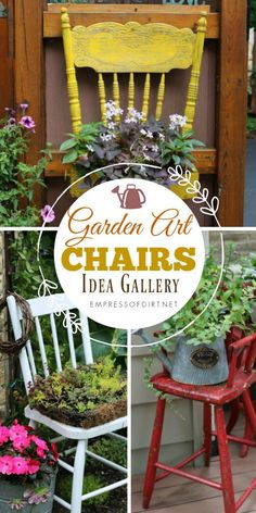 of Garden Art Chair Ideas Gallery of garden art chair ideas for charming, electic decor in your outdoor space.Gallery of garden art chair ideas for charming, electic decor in your outdoor space. Garden Chairs, Garden Planters, Garden Furniture, Retro Furniture, Amazing Gardens, Beautiful Gardens, Chair Planter, Magic Garden, Pinterest Garden