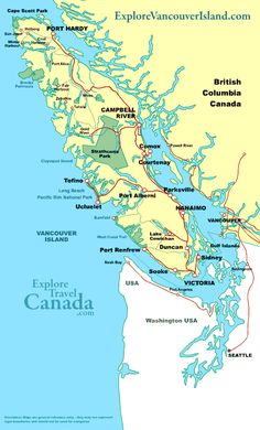 Victoria Seattle Vancouver Bellingham Port Angeles Map