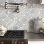 Ann Sacks Beau Monde Glass Tiles - Polly in Absolute White and Pearl