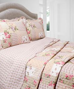 Look at this #zulilyfind! Rosemary Vintage Collection Reversible Quilt Set by Pegasus Home Fashions #zulilyfinds