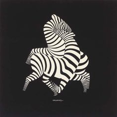 Victor Vasarely - Oil