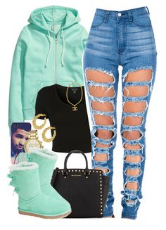 Love the outfit, ripped jeans are my fave and I love mint green Swag Outfits For Girls, Cute Swag Outfits, Teen Fashion Outfits, Teenager Outfits, Dope Outfits, Trendy Outfits, Winter Outfits, Summer Outfits, Fashion Women