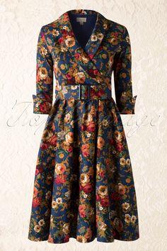 Bright print on the dress